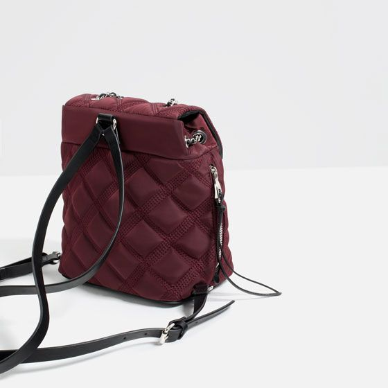 Image 4 of QUILTED CHAIN BACKPACK from Zara | 2016 17 bag fall ... : quilted rucksack zara - Adamdwight.com