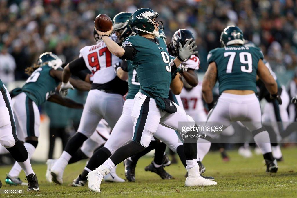 News Photo Nick Foles of the Philadelphia Eagles throws