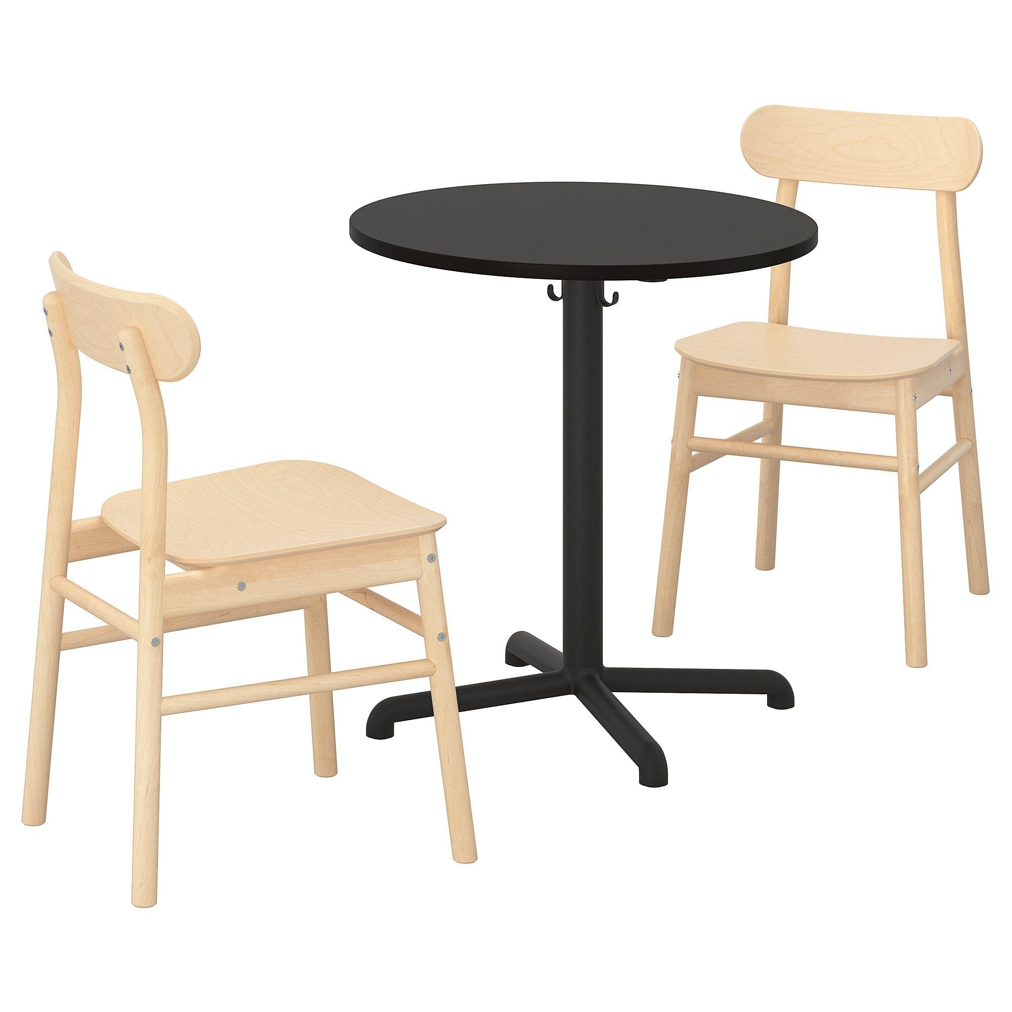 Stensele Ronninge Tisch Und 2 Stuhle Anthrazit Anthrazit Birke Ikea Tisch Und Ikea Tisch