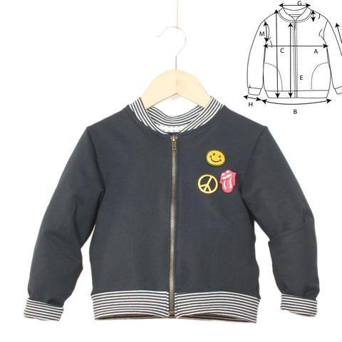 ee62decbe48c2 Patron de couture Sweat Bomber Enfant Garçon JULES