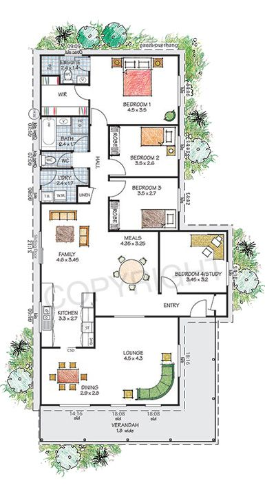 Kiama Floor Plan Download A Pdf Here Paal Kit Homes Offer Easy To Build Steel Frame Kit Homes For The Owner Builder House Floor Plans Kit Homes House Plans