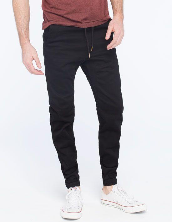Black Gown Jogger Pants