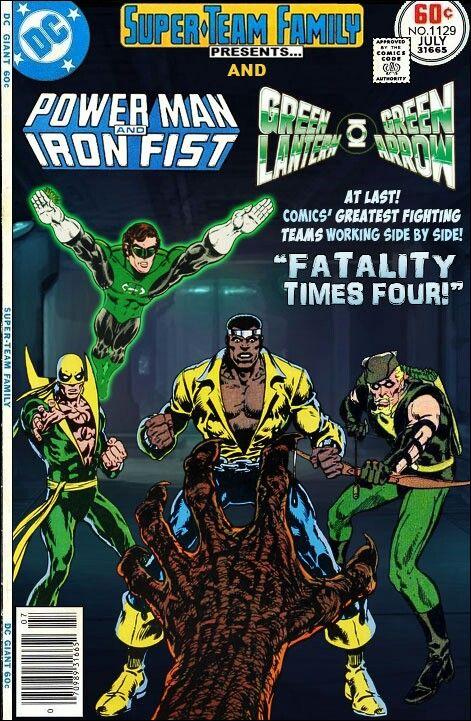 Power Man & Iron Fist with Green Lantern & Green Arrow