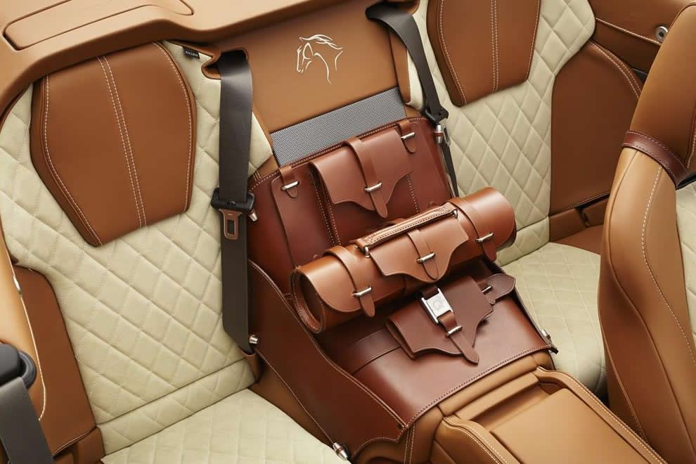 Q By Aston Martin Unveils Equestrian Themed Db9 Volante Leather Car Seats Car Upholstery Custom Car Interior