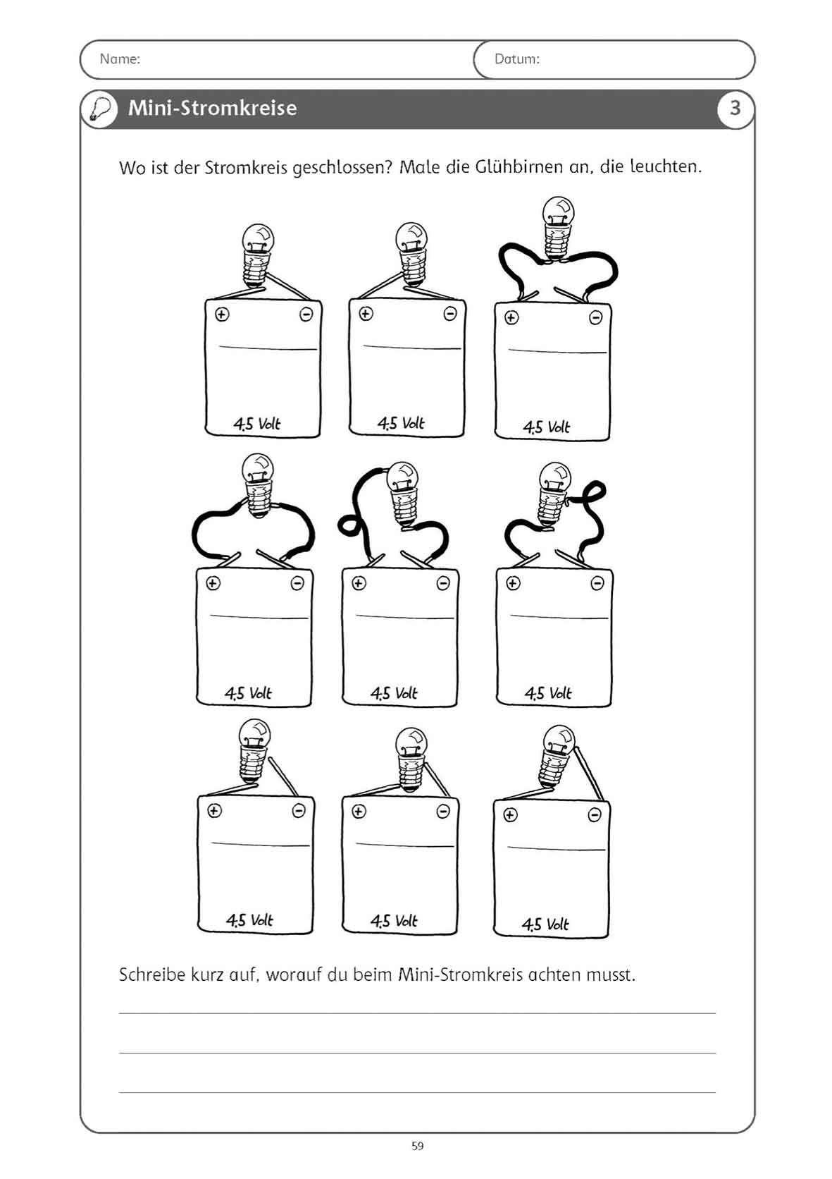 stromkreis grundschule arbeitsblatt nawi grundschule sachunterricht grundschule und. Black Bedroom Furniture Sets. Home Design Ideas