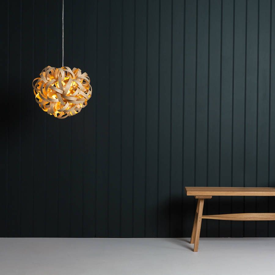 Tom Raffield No One Pendant Wooden Lampshade Standard By Tom Raffield Notonthehighstreet Com Wooden Lampshade Lamp Shades Pendants