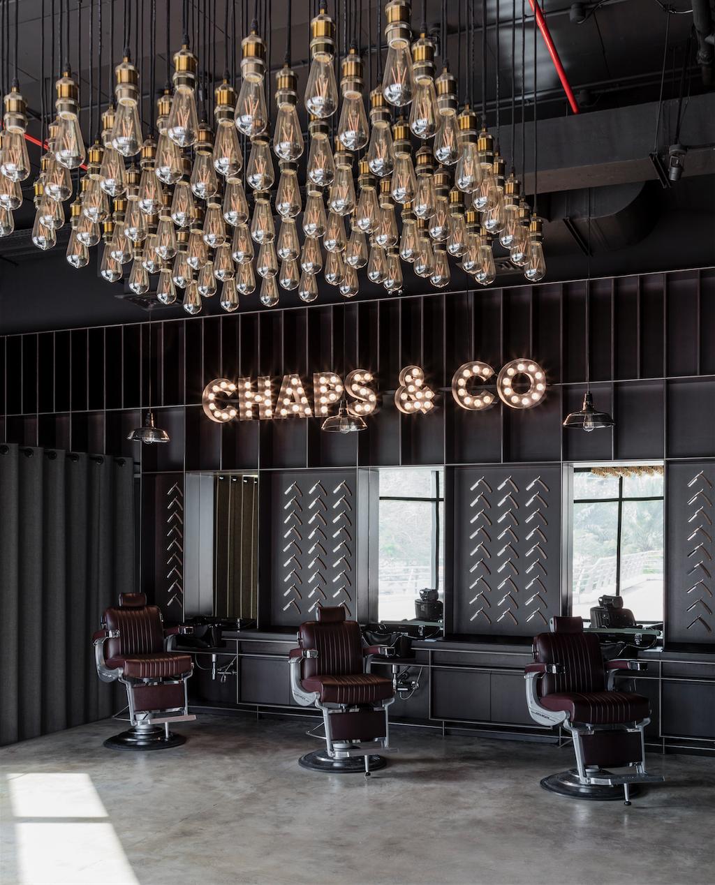 Shop Decor: Chaps & Co Barbershop JLT. Dubai