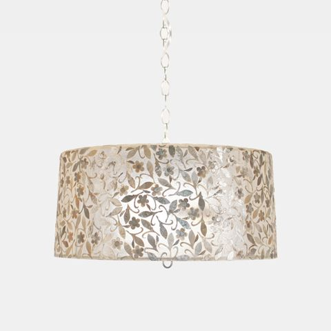 Worlds Away Capiz Shell Drum Pendant Clara Small Transitional Chandeliers By Matthew Izzo
