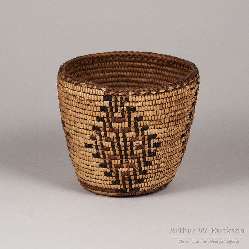 Fully imbricated puget sound basket basket decorative bowls