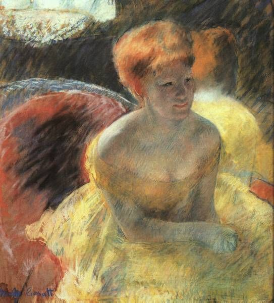 Mary Cassatt  At the Theater   1879 ; Pastel on paper