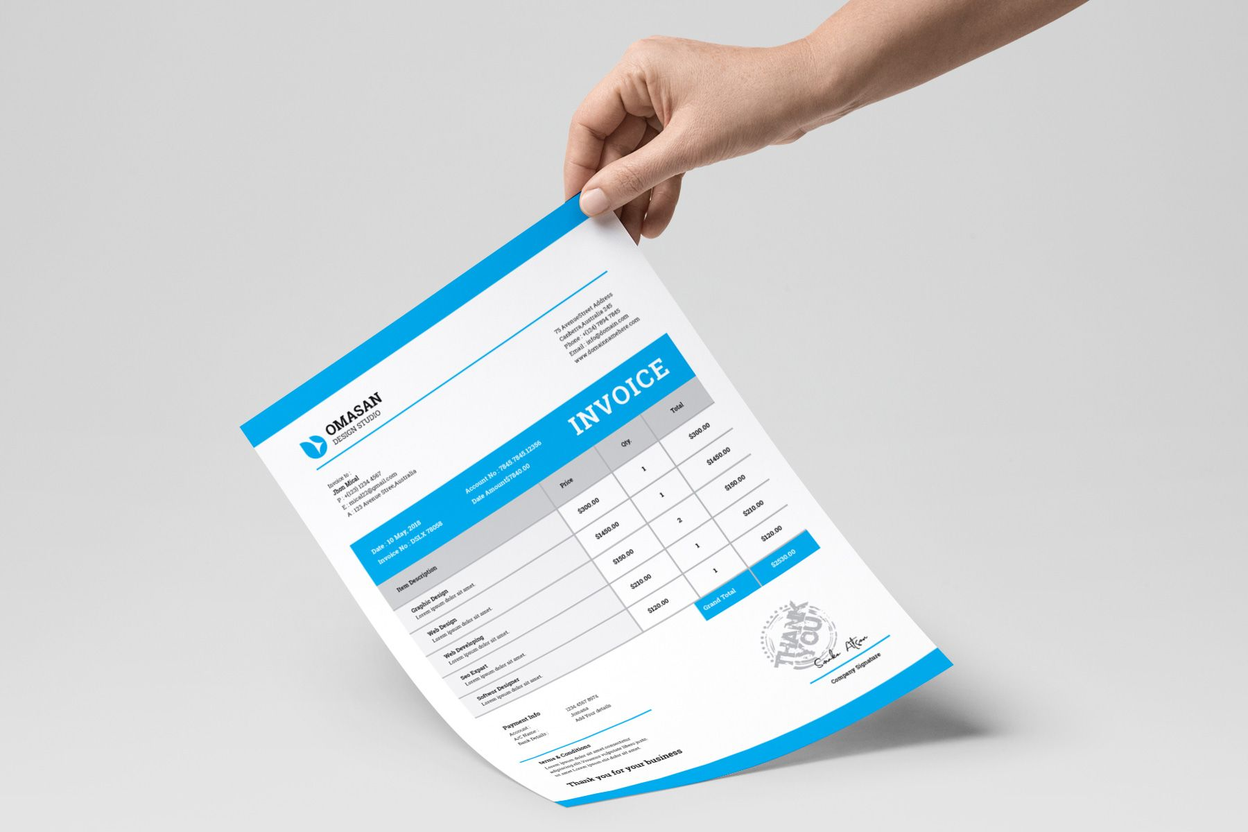 Modern Business Invoice Templates 5 99 Invoice Template Invoice Design Template Invoice Design
