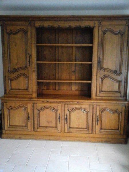 Relooking meuble bibliothèque chêne une création personnalisée Le - Comment Repeindre Un Meuble En Bois Vernis