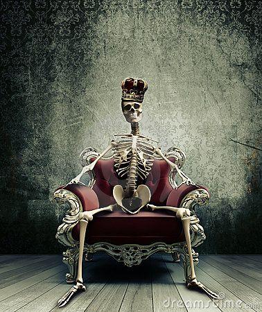 Skeleton king on throne google search amtgard for Skeleton king tattoo