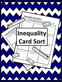 Inequality (Solving & Graphing) Card Sort