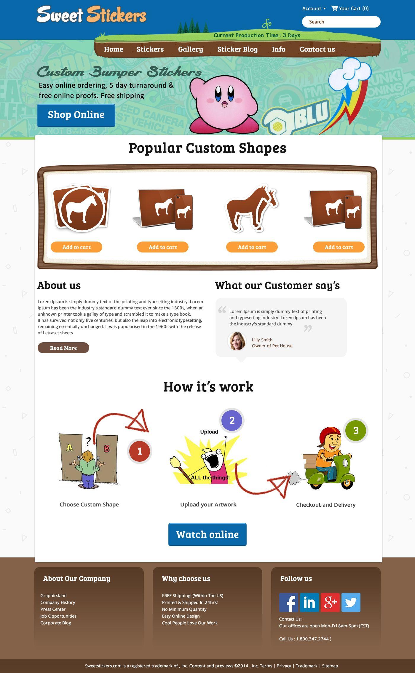 Sweet stickers online custom bumper stickers homepage design