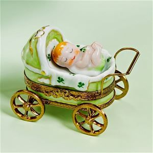 Irish Baby In Buggy Limoges Box Trinket Boxes Limoges Boxes