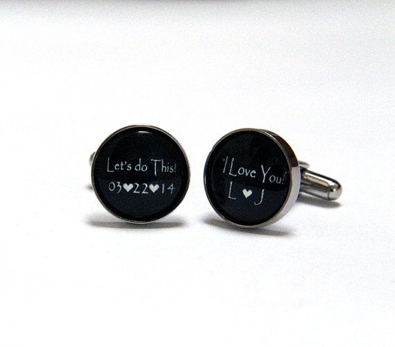 Grooms Gift from bride, Wedding Cufflinks for Groom Cuff Links ...