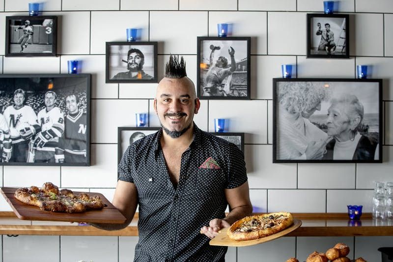 Boludo Chef Owner Facundo Javier Defraia Photographed At The Restaurant With A Photo Of His Mother And Grandmother Behin Paul Restaurant City Pages Minneapolis
