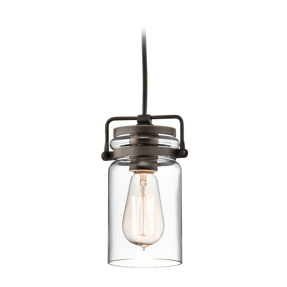 Kichler lighting brinley olde bronze minipendant light with