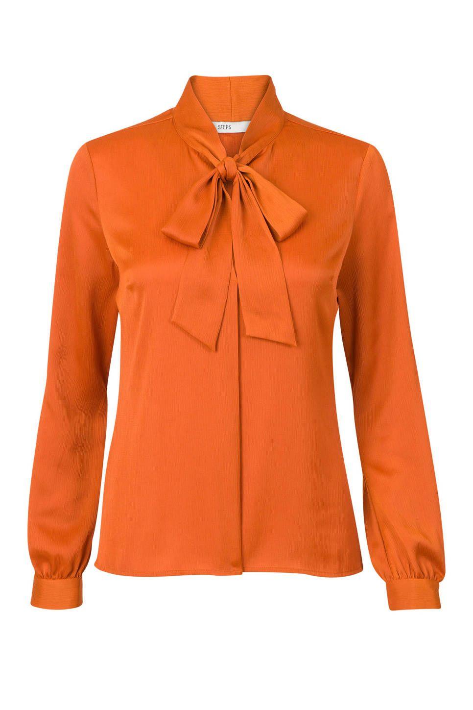 d8e3dacbd39 Steps blouse oranje #blouse #oranje #wehkamp #steps #strik #damesmode  #dames #dameskleding #vrouw