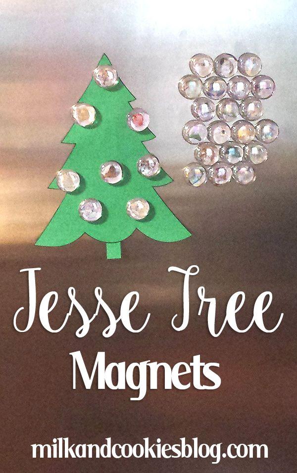 Christmas Countdown Ideas: Jesse Tree Magnets