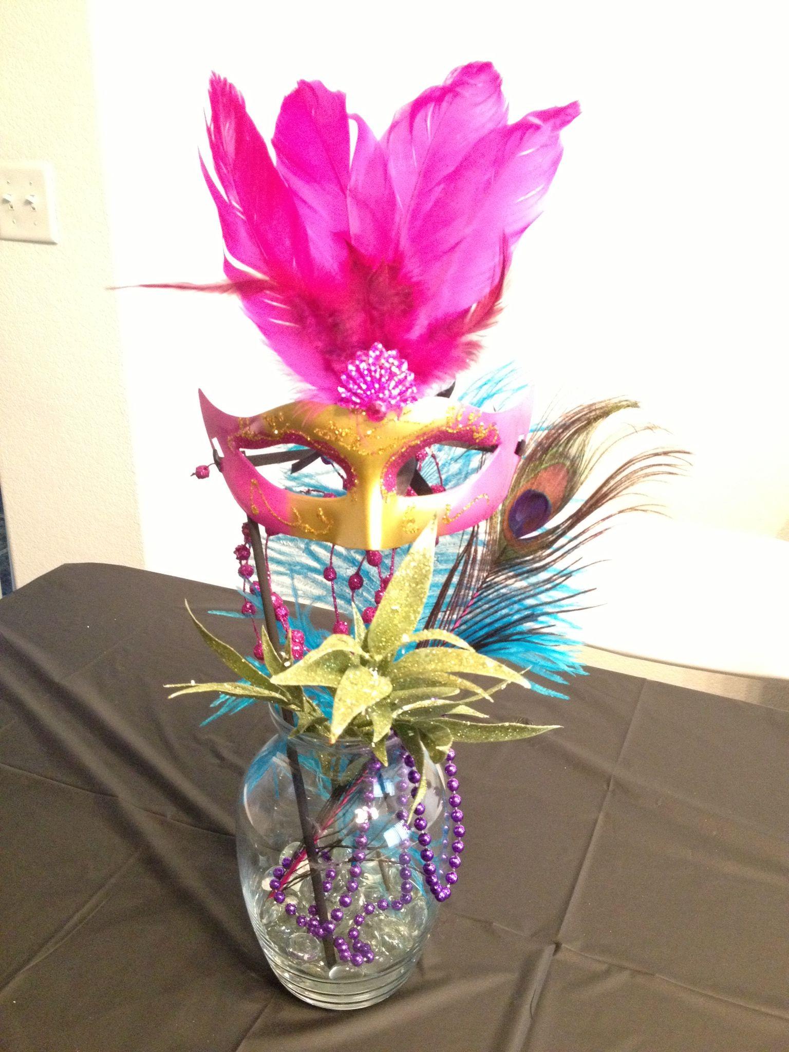 Masquerade centerpieces party ideas