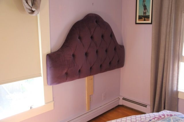 How To Mount An Upholstered Headboard To The Wall Upholstered Headboard Headboard Headboard Wall