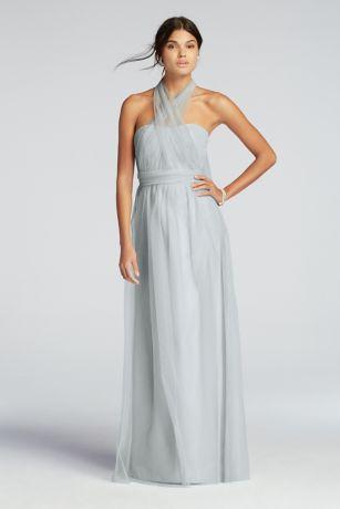 f334df82dfa Long Tulle Convertible Versa Bridesmaid Dress