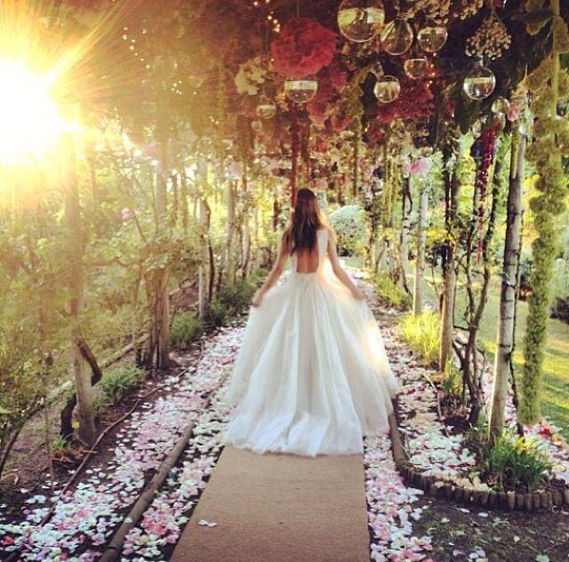 Magical Wedding Walkway Flowers Midsummer Nights Dream Wedding