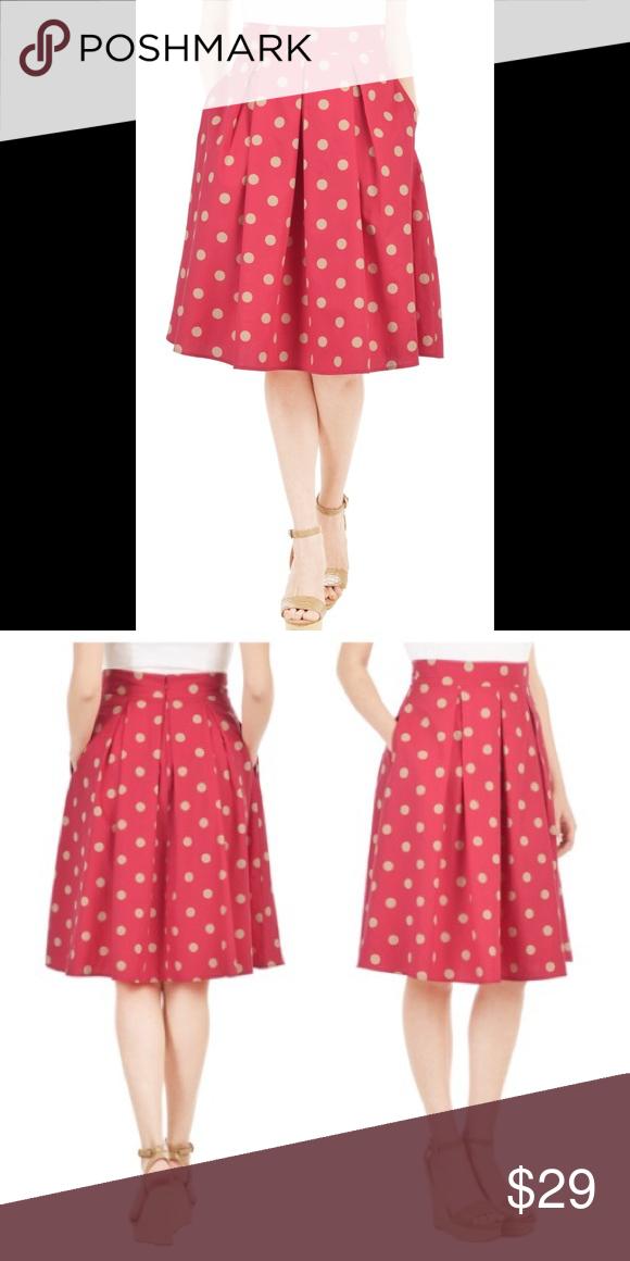 111a65dbe59 New Eshakti Coral Polka Dot Flared Skirt 20W New Eshakti coral polka dot  flared skirt 20W
