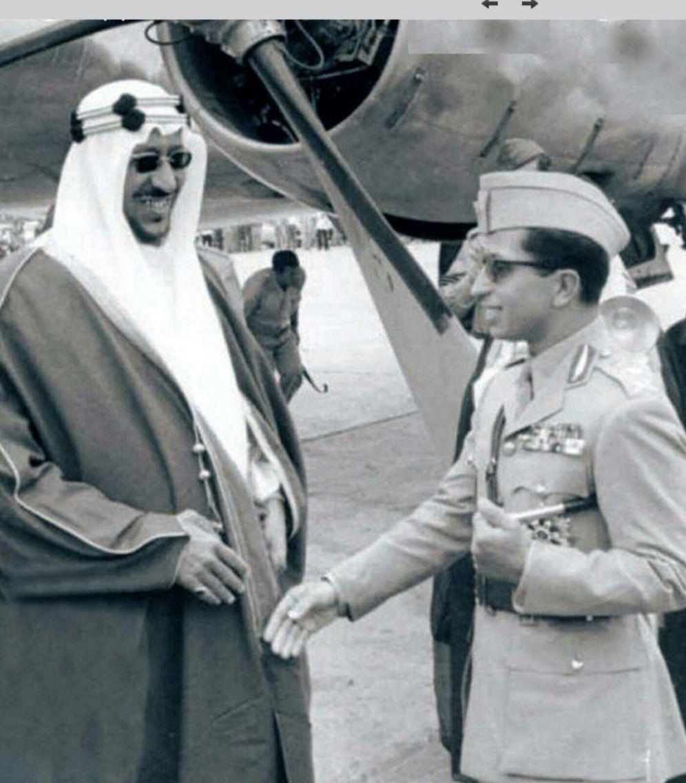 جلالة الملك فيصل الثاني مع ملك السعودية Egypt History Middle Eastern History Baghdad