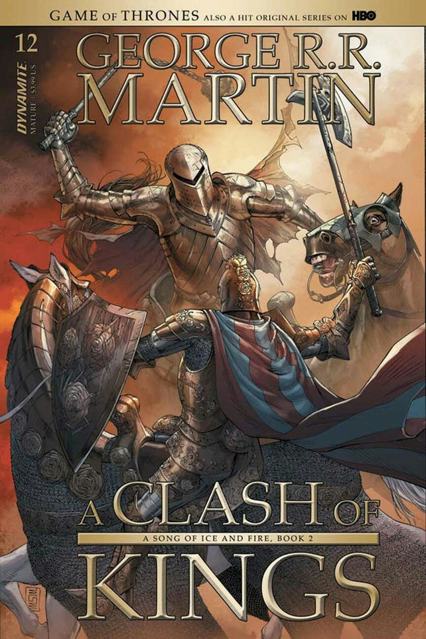 A Clash Of Kings Comic Book Issue 14 Cover Art By Mike S