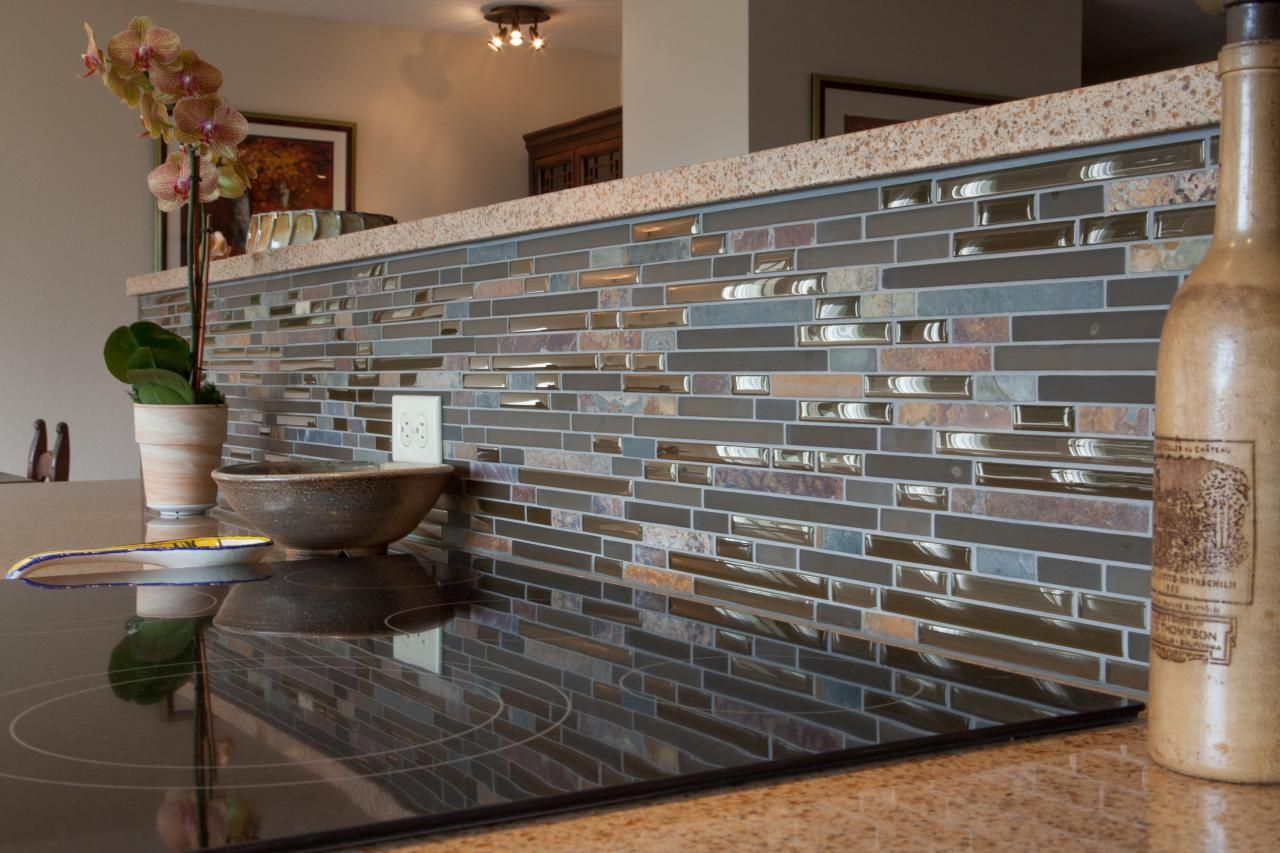 - Blue Brown Backsplash Blue And Brown Mosaic Tile Kitchen Backsplash This  Open Plan… Blue Backsplash Kitchen, Mosaic Tile Kitchen, Mosaic Tile  Backsplash Kitchen