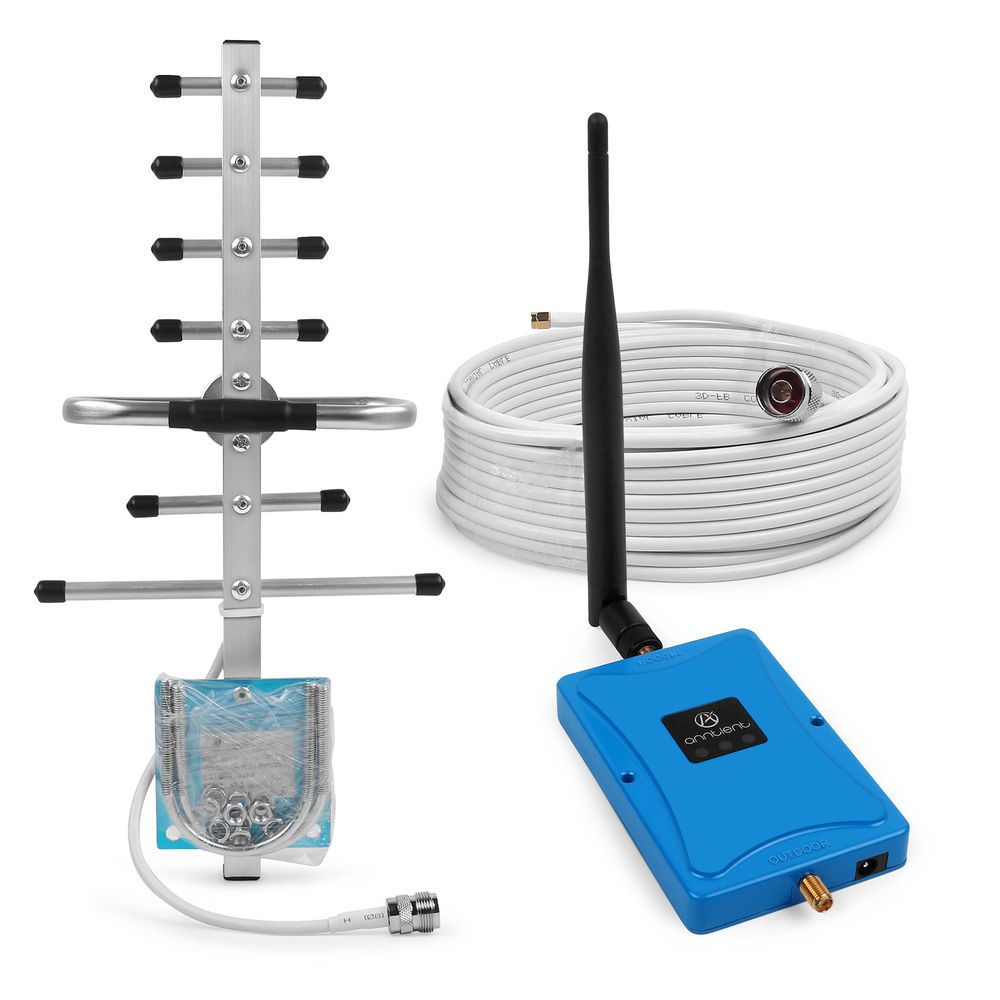 1700mhz 72db 3g aws signal booster cell phone repeater yagi antenna