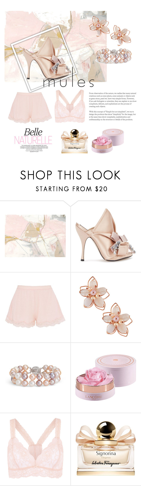 """""""Natural Beauty"""" by martina-b33 ❤ liked on Polyvore featuring N°21, STELLA McCARTNEY, NAKAMOL, Blue Nile, Lancôme, Accessorize and Salvatore Ferragamo"""
