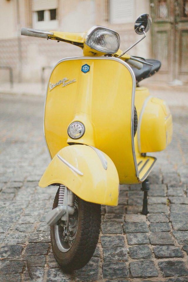 Vespa | Etsy |Pastel Yellow Vespa
