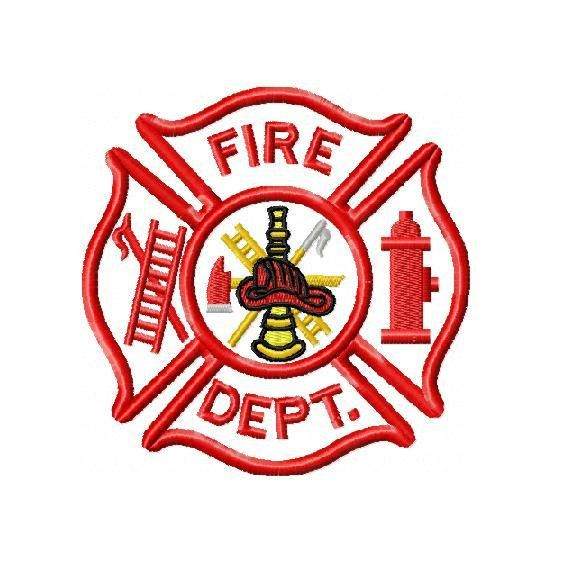 fire department applique and embroidery design in 3 sizes instant rh pinterest com fire rescue logo design fire department graphic design