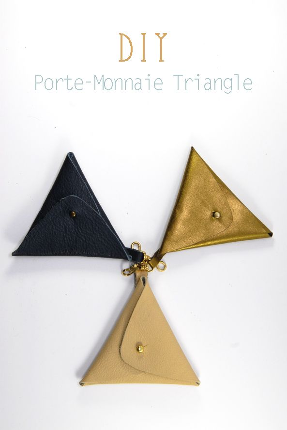 tuto du porte monnaie triangle leather pouch triangles and pouches. Black Bedroom Furniture Sets. Home Design Ideas