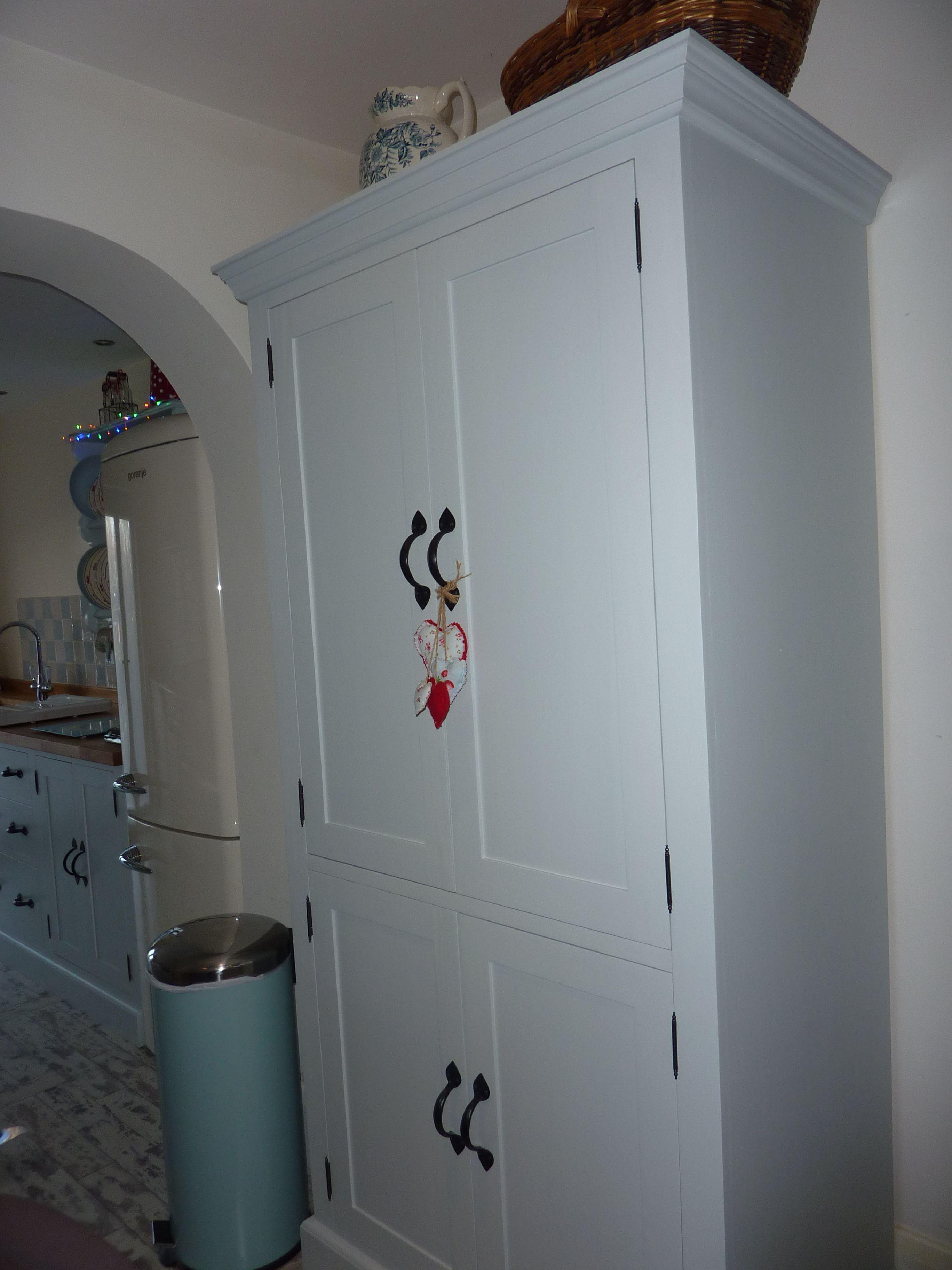 Shabby chic cottage kitchen in farrow & ball borrowed light | Shabby ...