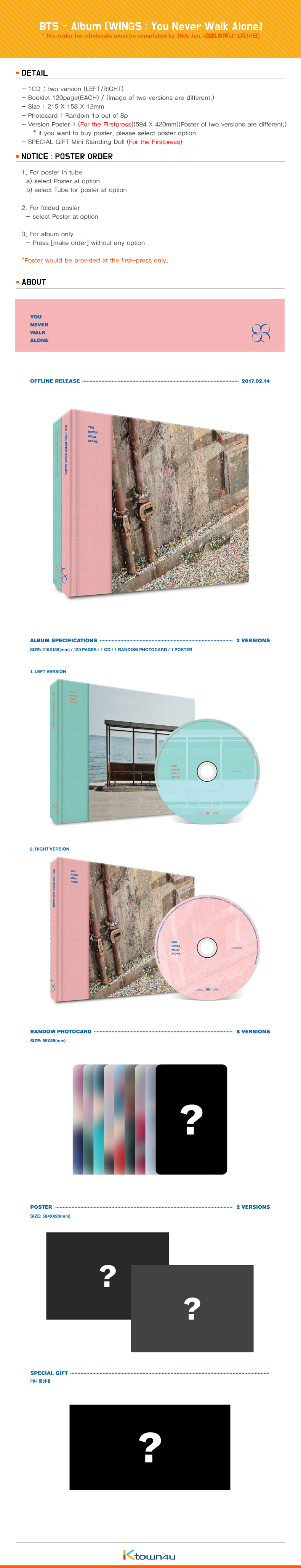 BTS - Album [WINGS : You Never Walk Alone] (RIGHT ver.)