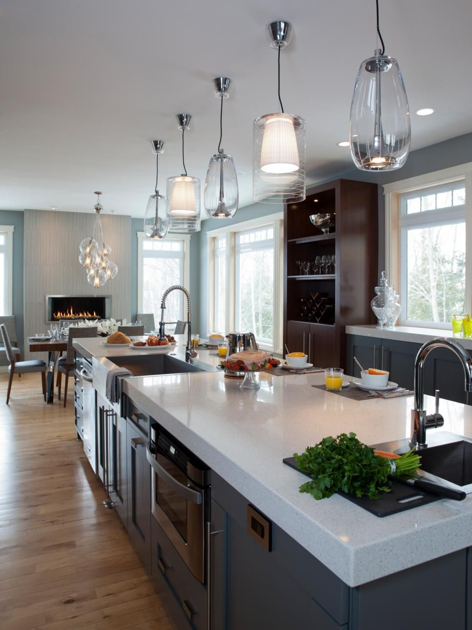 Kitchen Island Breakfast Bar Pictures Ideas From Hgtv: A 13' Long Island With A Kitchen Sink, Prep Sink