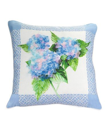 Loving This Hydrangea Throw Pillow On Zulily Zulilyfinds Classy Hydrangea Decorative Pillows