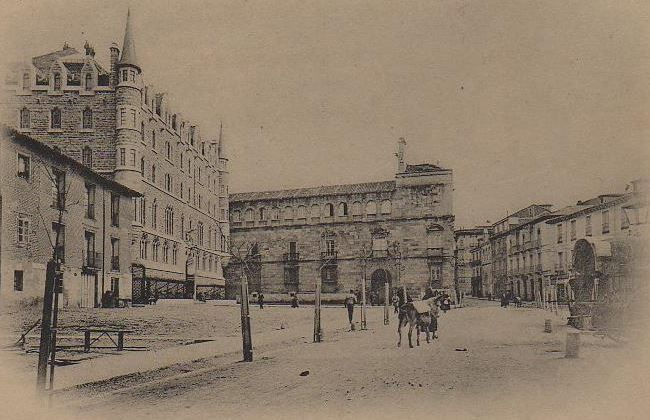 Diputación y Calle de San Marcelo. 1905.