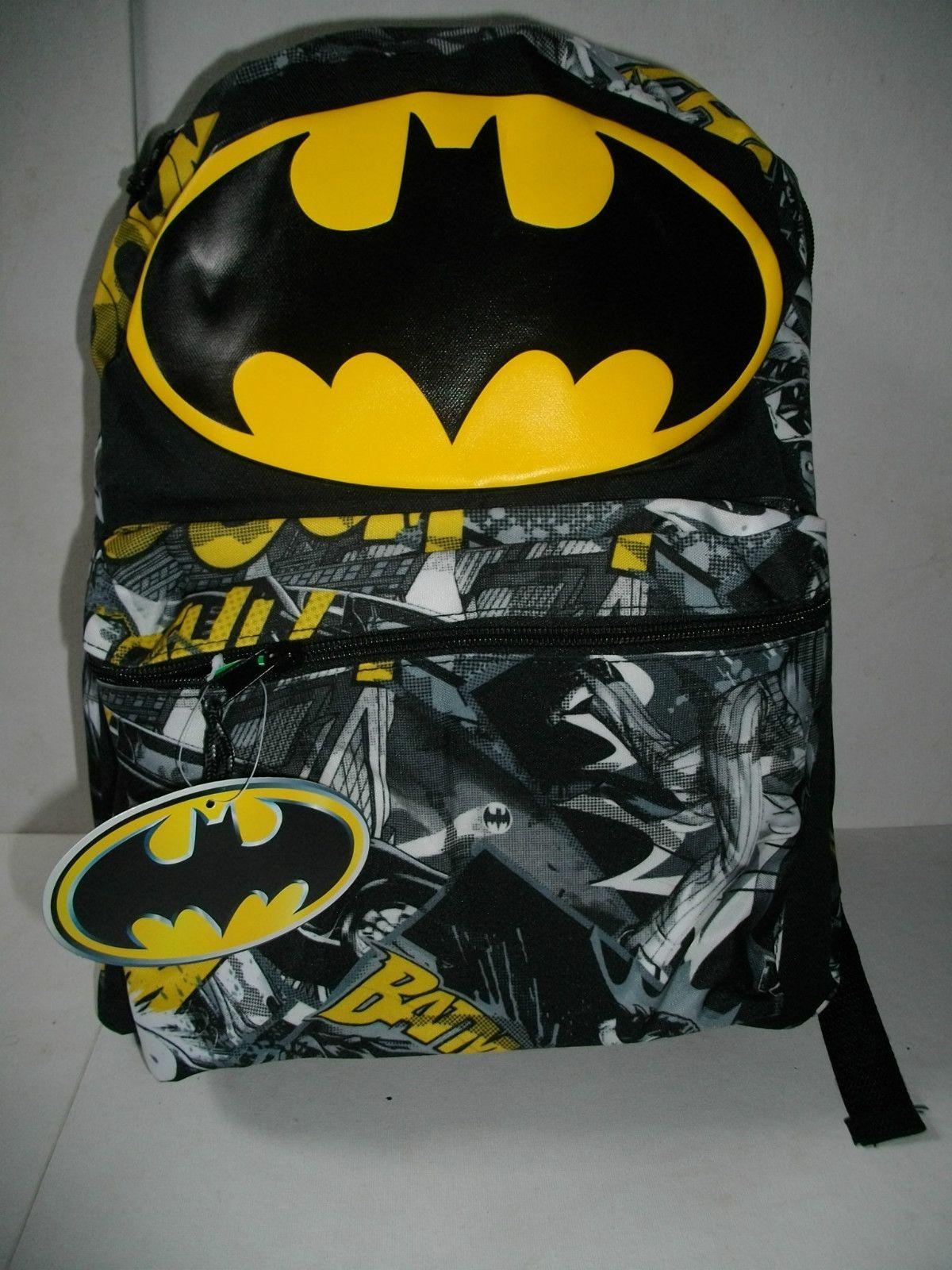 new batman dc ics licensed 16 backpack school book bag