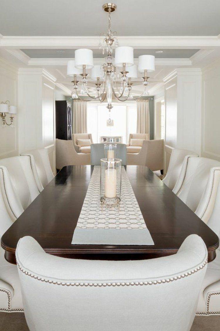 esszimmer ideen m bel wei e polsterst hle wohnidee. Black Bedroom Furniture Sets. Home Design Ideas