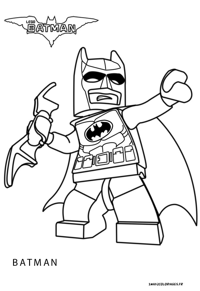 Coloriage batman un max de coloriages - Dessin lego a colorier ...