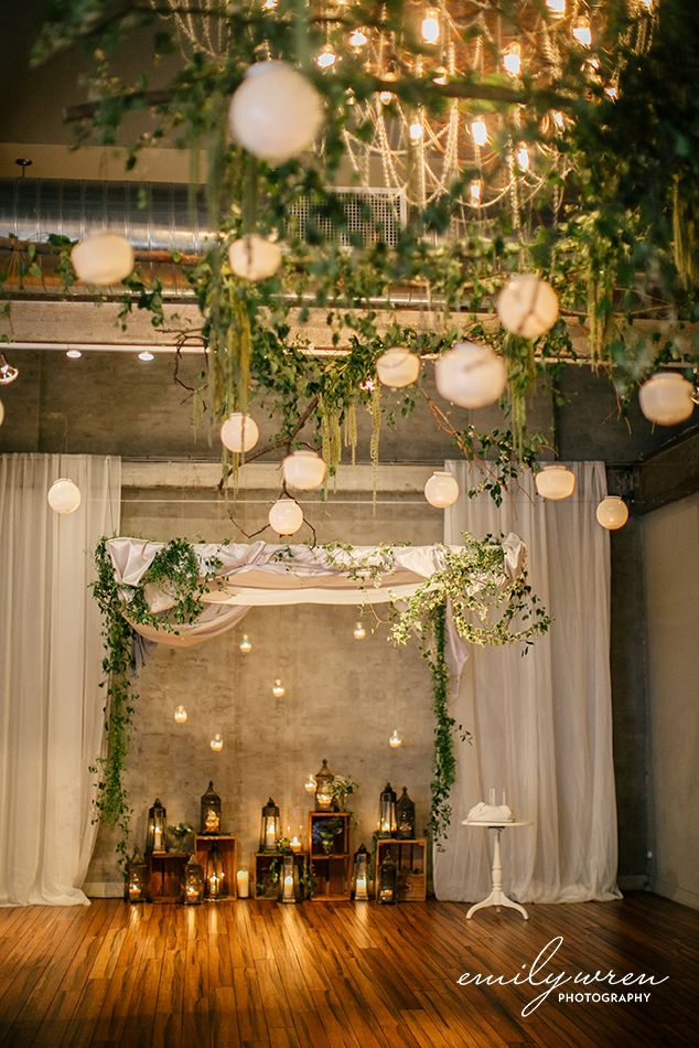 ideas for rustic wedding reception%0A Add greenery to your wedding  Front  u     Palmer industrial wedding venue   photo by