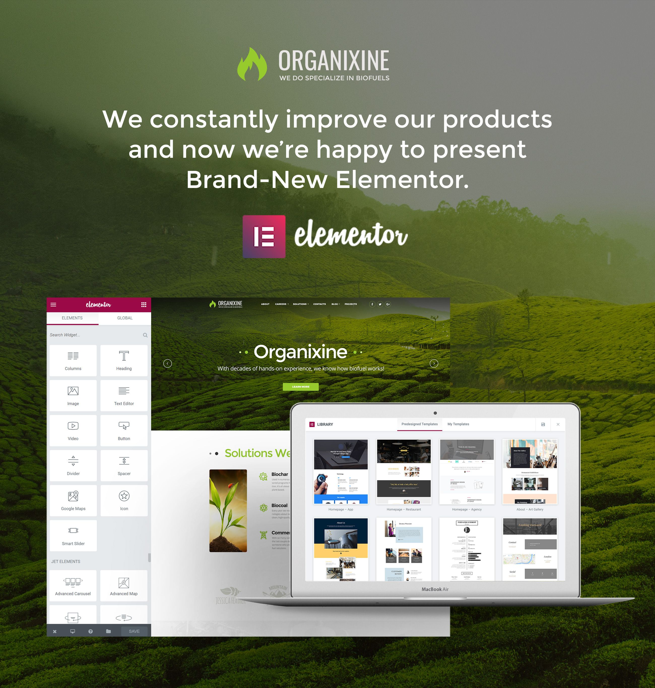 Organixine - Biofuel Company WordPress Theme #alternativeenergy