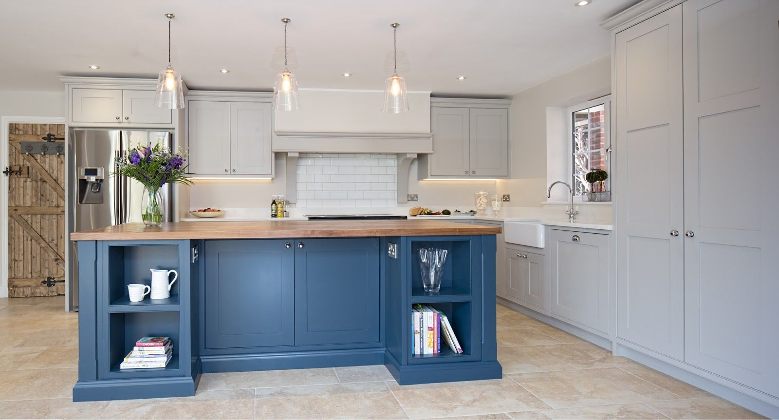Best Maple Gray Blue Grey Kitchen Grey Kitchens Grey 400 x 300