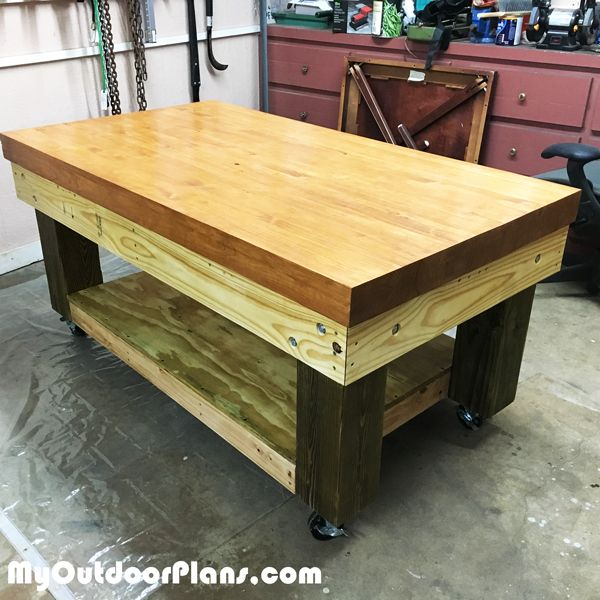 Outstanding Diy Heavy Duty Workbench In 2019 Wooden Playhouse Outdoor Theyellowbook Wood Chair Design Ideas Theyellowbookinfo